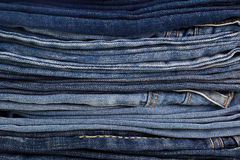 Folded stack of jeans Stock Image
