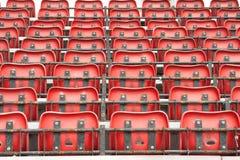 Folded stadium seats Royalty Free Stock Photos