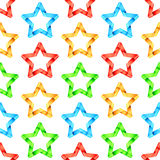 Folded Stars Seamless Pattern Royalty Free Stock Photos