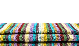 Folded striped mat Royalty Free Stock Images