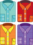 Folded striped shirt Royalty Free Stock Photography