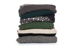 Folded sweater pattern on white background isolation royalty free stock photo