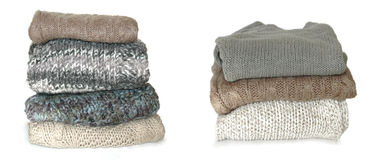 Folded sweaters Stock Images