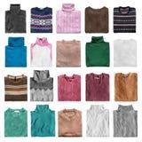 Folded sweaters isolated Stock Photos