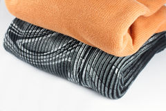 Folded sweaters Stock Photography