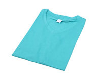 Folded t-shirt isolated Royalty Free Stock Photography