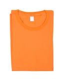 Folded t-shirt isolated Royalty Free Stock Images
