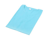 Folded t-shirt isolated Royalty Free Stock Image