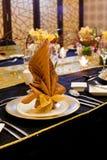 Folded table napkin Stock Photography