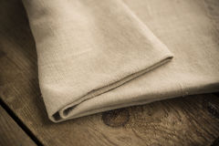Folded Tan Cotton Fabric or Linen Royalty Free Stock Photos