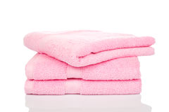 Folded terry cloth towels Royalty Free Stock Images
