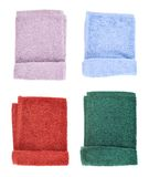 Folded terry towel isolated Royalty Free Stock Photography