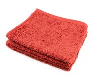 Folded terry towel isolated Royalty Free Stock Photo