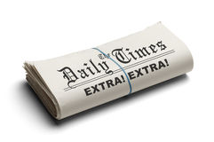 Folded Daily Times Stock Photography