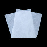 Folded tissue paper isolated on black. It is folded tissue paper isolated on black Royalty Free Stock Photography