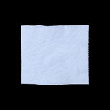 Folded tissue paper isolated on black. It is folded tissue paper isolated on black Royalty Free Stock Image