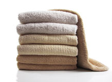 Folded towels Royalty Free Stock Images
