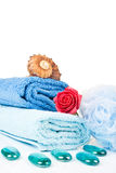 Folded towels Royalty Free Stock Photos