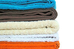 Folded towels Stock Images