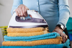Folded towels Royalty Free Stock Image