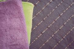 Folded towels Stock Photo