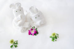 Folded towels Stock Photos