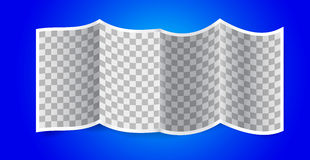 Folded transparency paper on blue background Stock Photos
