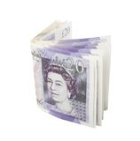 Folded twenty pounds Stock Image