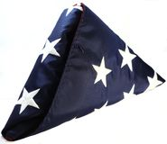 Folded U.S. Flag Stock Image