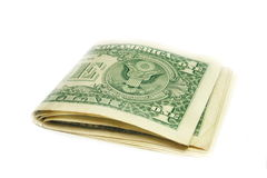 Folded US dollar bills Stock Photo