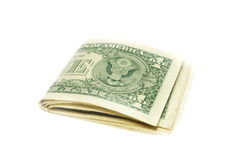 Folded US dollar bills Stock Images