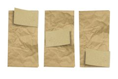 Folded vintage paper Royalty Free Stock Image