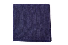 Folded violet textile napkin on white Stock Photos