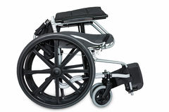 Folded wheel chair Royalty Free Stock Photography
