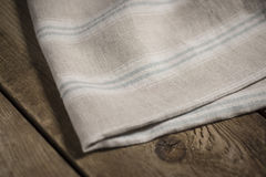Folded White, Beige and Blue Striped Cloth Royalty Free Stock Images