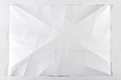 Folded white blank document Stock Images