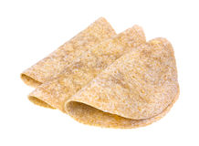 Folded whole wheat tortillas Royalty Free Stock Photos