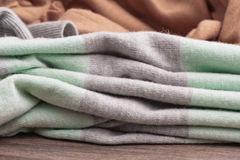Folded wool Stock Images