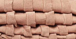 Folded wool Stock Photo