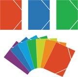 Folder 04. Folder color with paper sheet 04 royalty free illustration