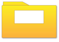 Folder. Yellow folder illustration with blank area isolated over white background Vector Illustration