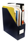 Folder. Various document and files are in the folder stock images
