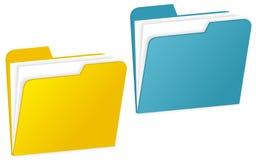 Folder. Illustration of folders. Document folders Royalty Free Stock Photo