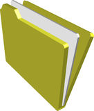 Folder. An illustration of a folder containing documents Stock Images