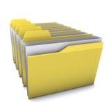Folder. 3d yellow folders  isolated on white background Stock Photo