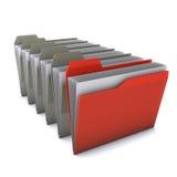 Folder. 3d red folders  isolated on white background Stock Photo