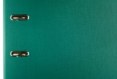 Folder. Green folder with a paper clip Royalty Free Stock Image