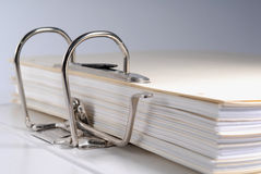 Folder. Close up of a business folder Royalty Free Stock Images