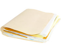 Folder. With papers isolated on white Stock Image
