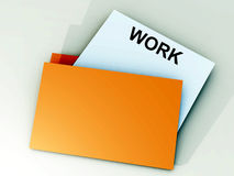 Folder 56. An image of a file folder with a sheet of paper coming out of it Stock Images